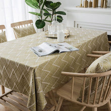 Load image into Gallery viewer, Modern Rustic Tablecloth For Dining Room Banquet Table Cover Rectangular Geometric Patterned Jacquard Weave With Tassels For Kitchen Table Stylish Home Decor