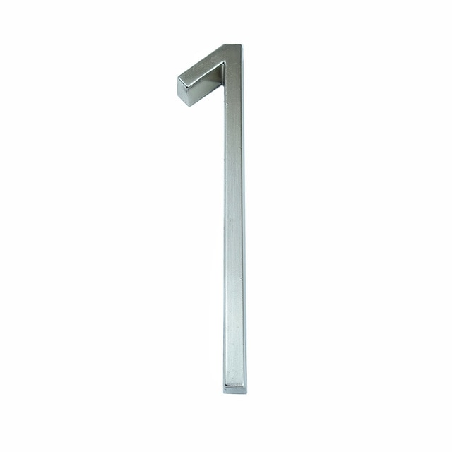 Silver Floating House Numbers For Front Door 12cm Numbers #0-9 Alphabet Letters ABC Zinc Alloy Weather Resistant Modern Outdoor Signage For Home or Office