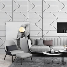 Load image into Gallery viewer, Modern Black White Geometric Design Wallpaper For Home Office Wall Decor Stylish Wall Covering For Living Room Behind TV Trending Home Interior Decor