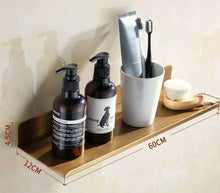 Load image into Gallery viewer, Antique Brass Shelf Shower Rack Modern Stylish Shelving For Washroom Single Tier Cosmetics Shelf For Bathroom Polished Finished Copper Brass Washroom Fittings