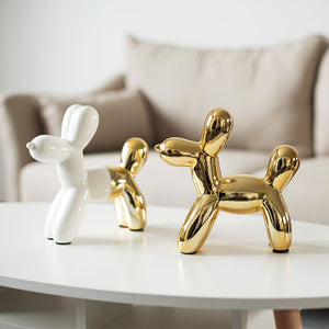 Miniature Balloon Dog Ceramic Figurines Cute Dog Piggy Bank Creative Crafts Modern Fashion Nordic Style Home Decoration Tabletop Ornaments