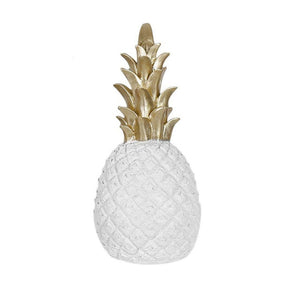 Golden Pineapple Nordic Style Decorative Ornament Tropical Ananas Table Fruit Fashion Home Decor For Living Room Desktop Decoration In Gold White Or Black