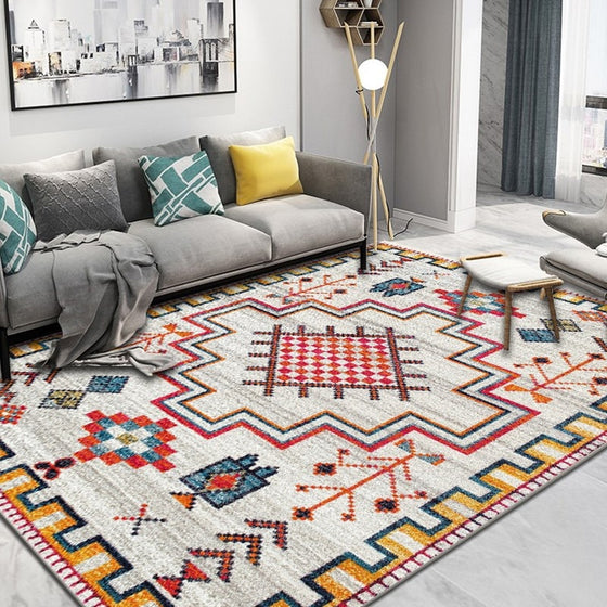 Modern Nordic Rug Colorful Vintage Geometric Design Area Mat For Living Room Dining Room Bedroom Carpet Sofa Rug Dining Table Floor Mat Rectangle 10 Sizes