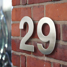 Load image into Gallery viewer, Stainless Steel Executive House Numbers Big 15cm Silver Numbers For Front Door Modern Stylish Home Exterior Signage 6 Inch Digits #0-9 Door Numbers