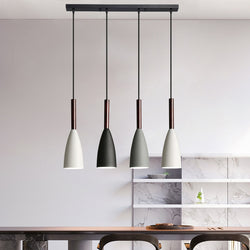 Modern Minimalist Pendant Lamps For Kitchen Nordic Style Hanging Lights For Living Room Cafe Bar Restaurant Finished In Aluminium & Wood, Multiple Variations
