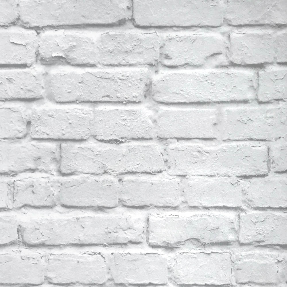 Faux White Bricks Wallpaper 3d Effect Exposed Brick Wall Vinyl Wallpap House Boutique