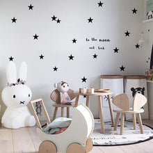 Load image into Gallery viewer, Cute Stars Wall Decals For Nursery Decor Gold Black Silver Blush Pink Star Stickers For Girls And Boys Kid's Room Wall PVC Star Decals