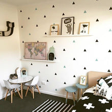 Load image into Gallery viewer, Little Triangles Decorative Wall Stickers For Nursery Room Decoration Colored Removable Vinyl Wall Decals Kids Room Modern Home Decor