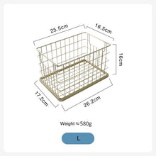 Load image into Gallery viewer, Nordic Luxury Handmade Gold Net Basket Organizer For Bathroom Accessories Cosmetics Towels Clothes Sundries Storage Basket For Washroom Kitchen Essentials