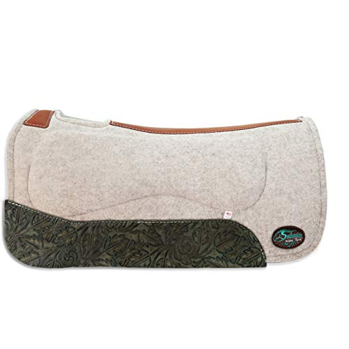 "Southwestern Equine OrthoRide All Purpose Riding 1"" Thick Wool Saddle Pad"