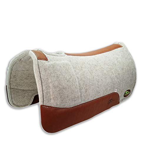 "Southwestern Equine OrthoRide Roper Soft Hit Dally Shim 100% Natural Wool 1"" Saddle Pad"