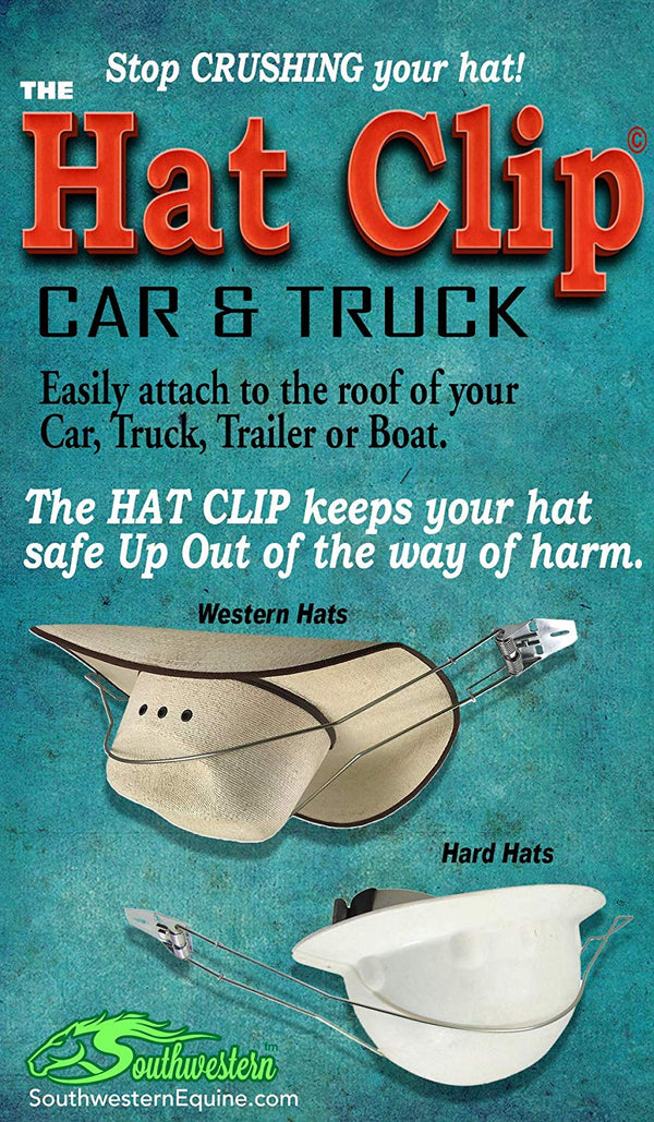 Metal Hat Clip for Trucks Cars SUV Sturdy Hat Holder (Flat or Curved)