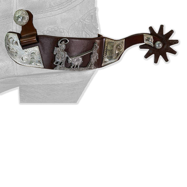 Western Antique Team Roper Men's Spurs