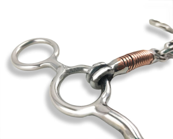 Sliding Short Shank Gag Bit with Copper Mouth