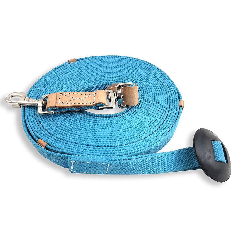 35' Flat Cotton Lunge Line with Rubber Stop