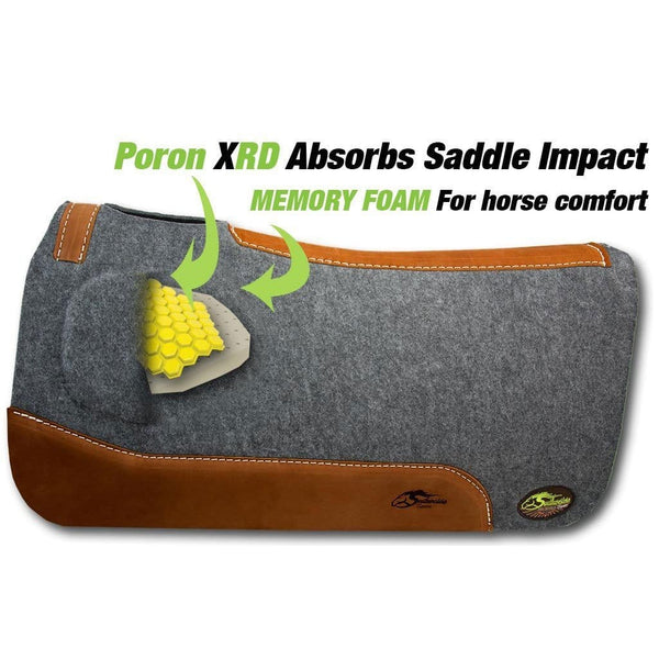 Orthoride Poron southwestern Equine Western Saddle Pad barrel racing