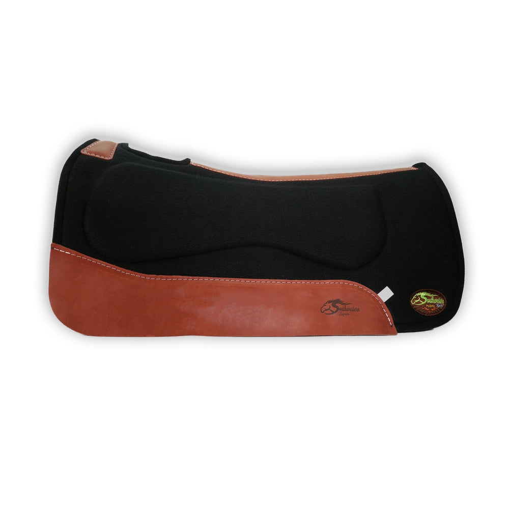 OrthoRide™ All Purpose Saddle Pad Black Wool Felt