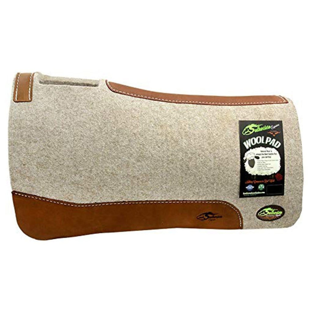 Montana Tan Wool Saddle Pad - Thick 1 Inch