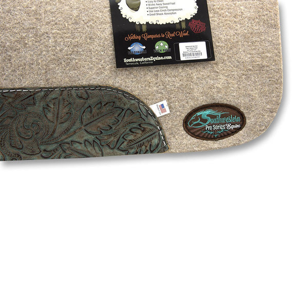 The Montana 100% Extra Fine Wool Saddle Pad by Southwestern Equine