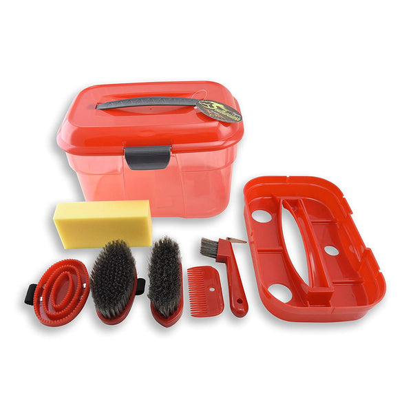 Tack Box Grooming Kit with Removable Shelf Secure Locking Lid