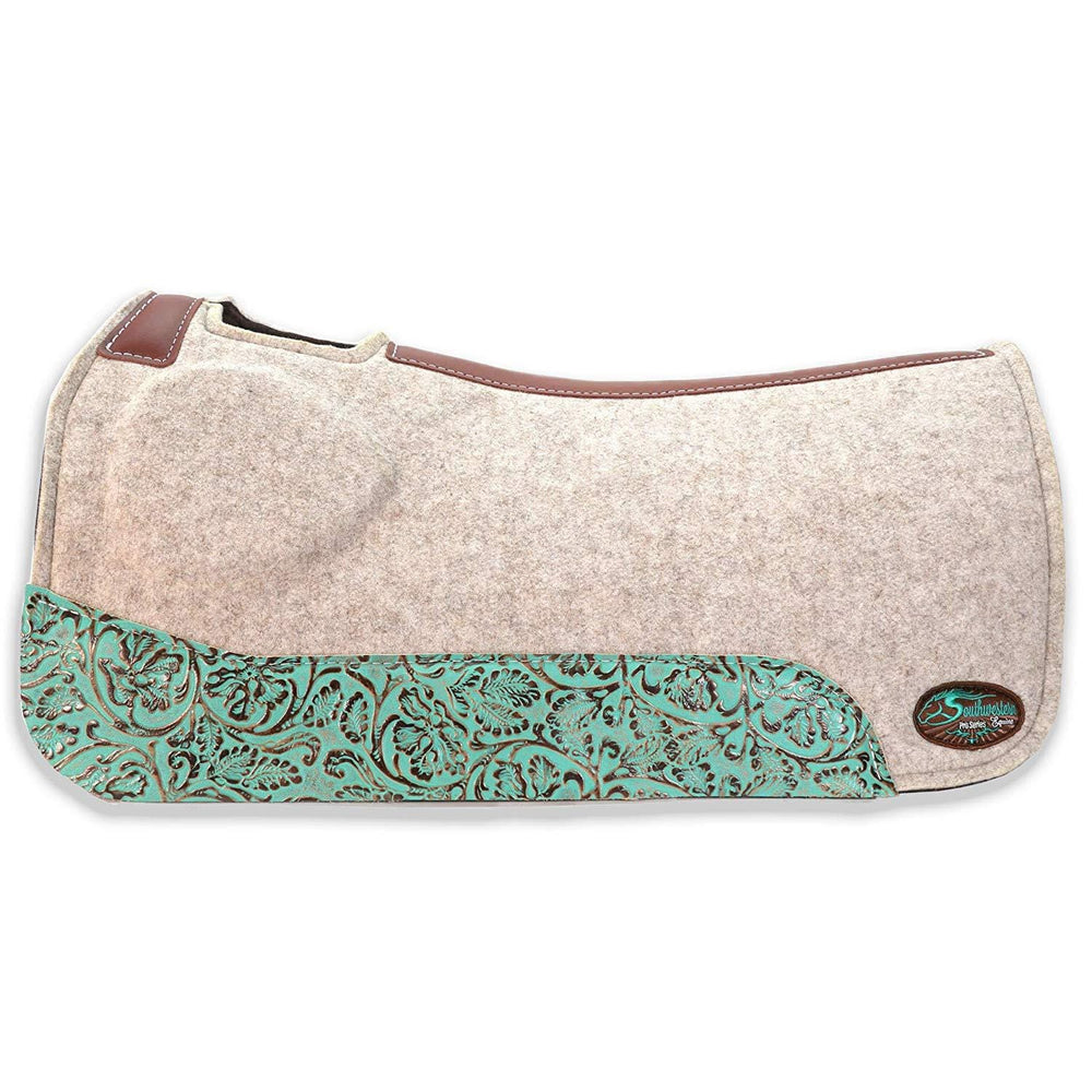 OrthoRide Elite Saddle Pad Premium Tan Topper with Fleece Bottom 1""