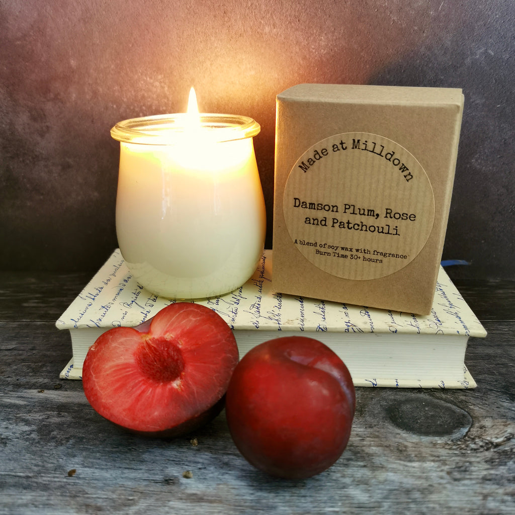 DAMSON PLUM, ROSE & PATCHOULI CANDLE
