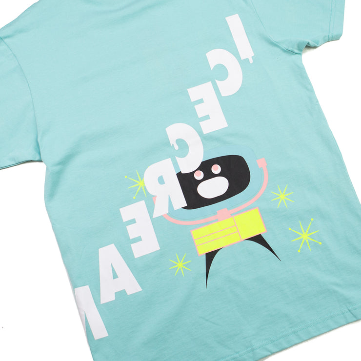 Clock SS Tee (Pastel Turquoise)