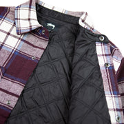 Max Plaid Quilted Shirt (Burgandy)