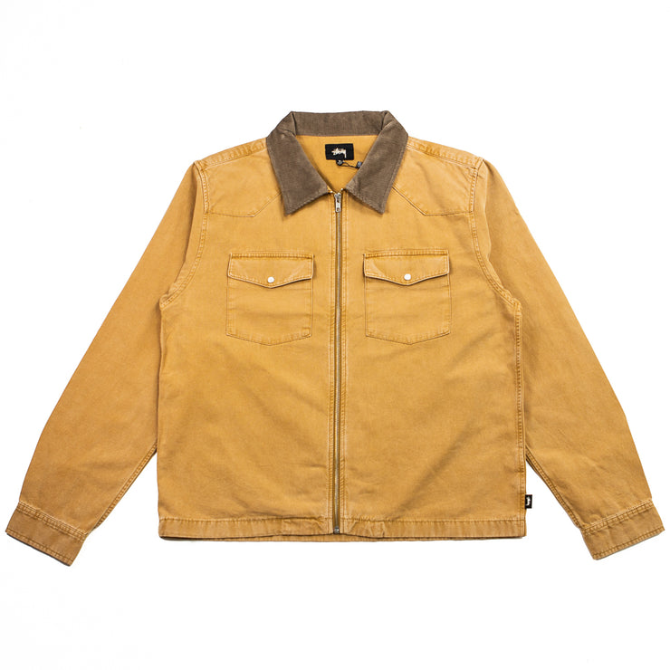 Washed Canvas Work Shirt (Gold)