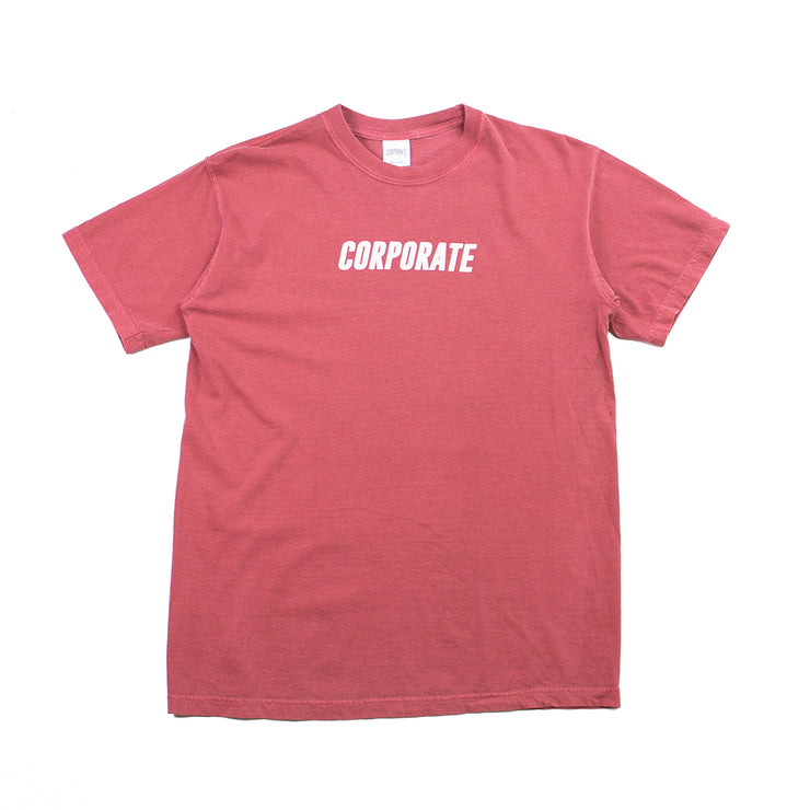 Track Tee (Red Washed)