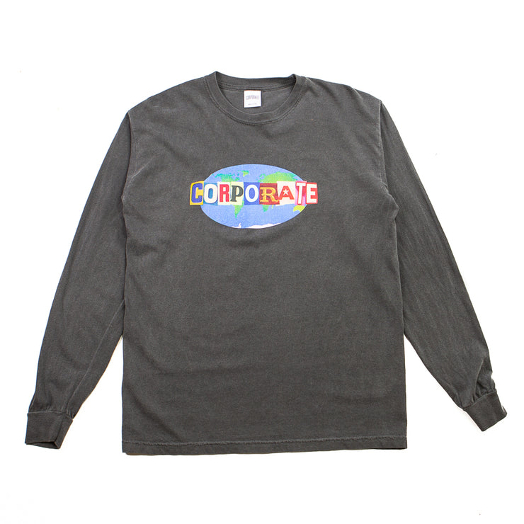 Worldwide L/S Tee (Black Washed)