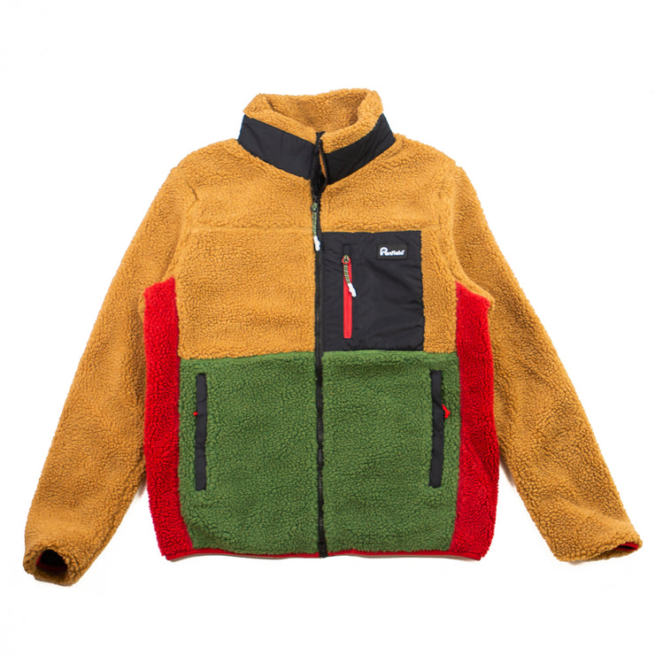 Mattawa Colourblock Fleece (Tan Brown)
