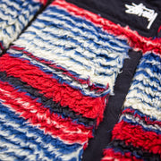 Striped Sherpa Vest (Red/Blue)