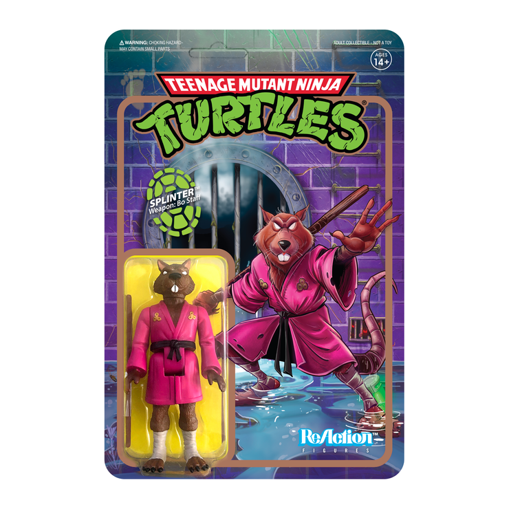 Splinter Teenage Mutant Ninja Turtles Reaction Figure