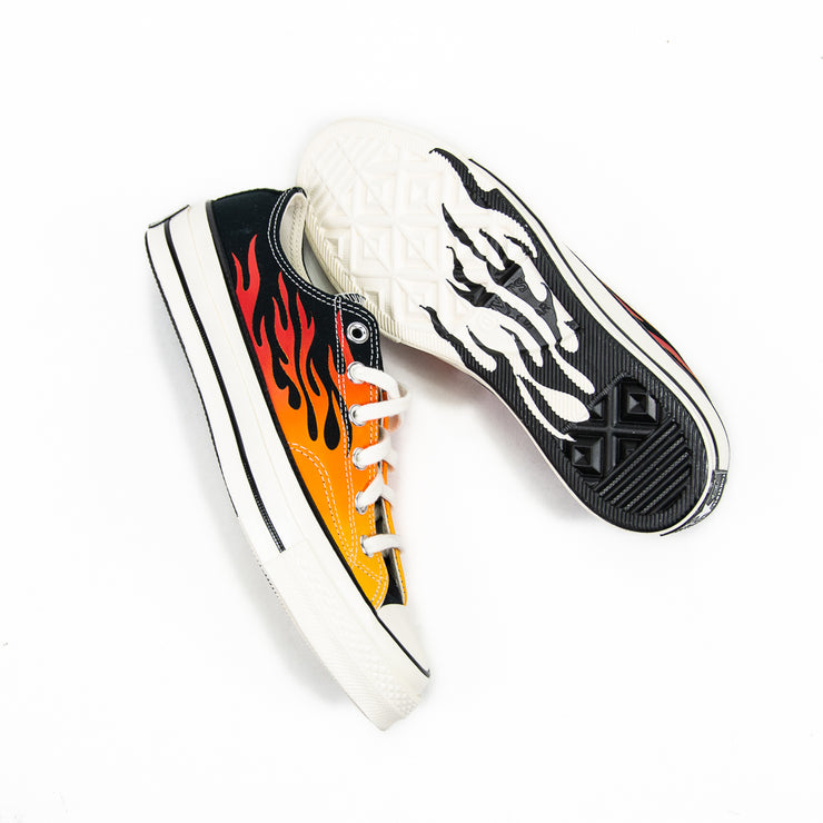 Chuck Taylor 70 Ox Archive Print (Black/Flames)
