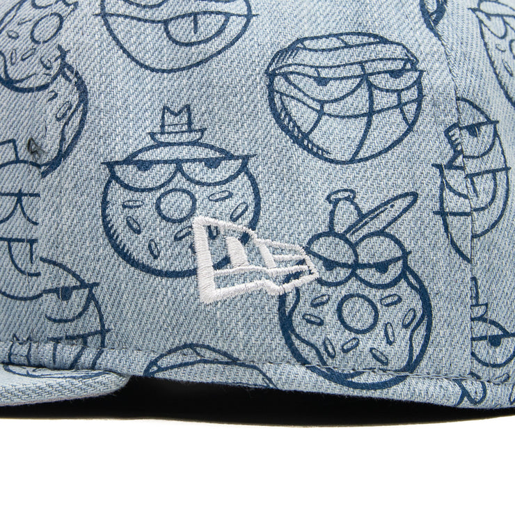 Kevin Lyons Basketball Fitted Cap (Washed Denim)