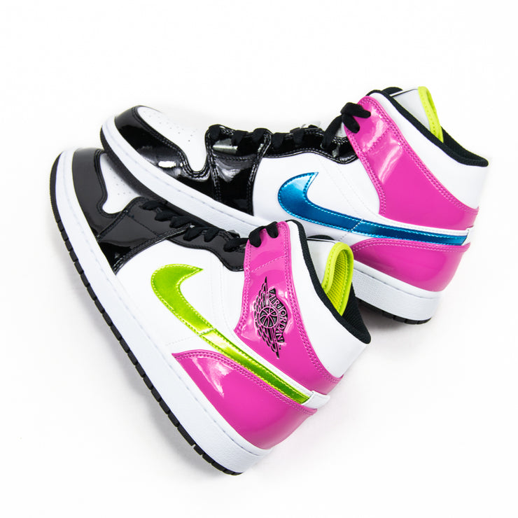 Air Jordan 1 MID SE (White/Cyber-Active Fuschia/Black)