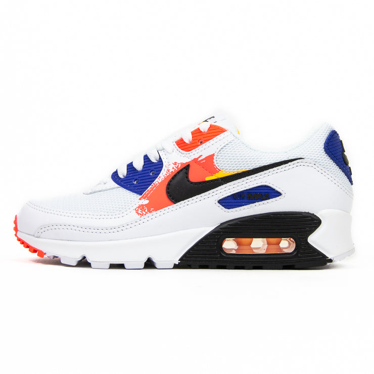 WMNS Air Max 90 (white/black/laser orange)