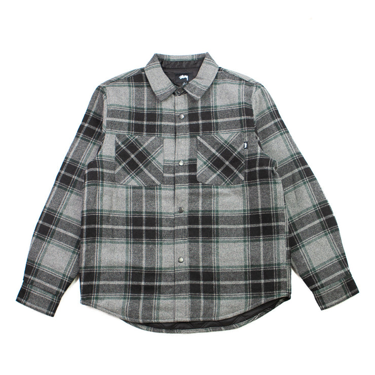 Max Plaid Quilted Shirt (Black)