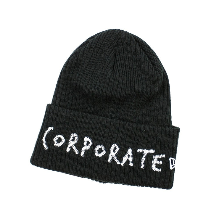Corporate Stitched Beanie (Black)
