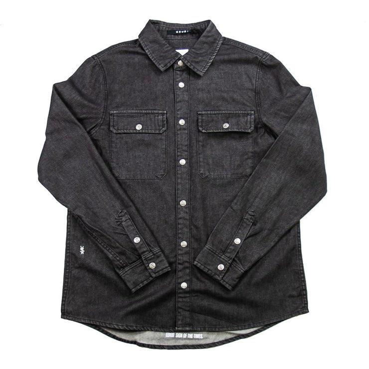 Shockwave Denim Shirt Untouched (Black)