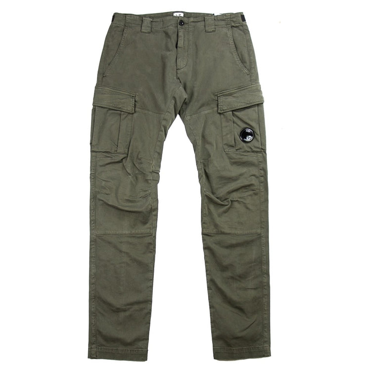 Garment Dyed Sateen Lens Pocket Pants (Dusty Olive)
