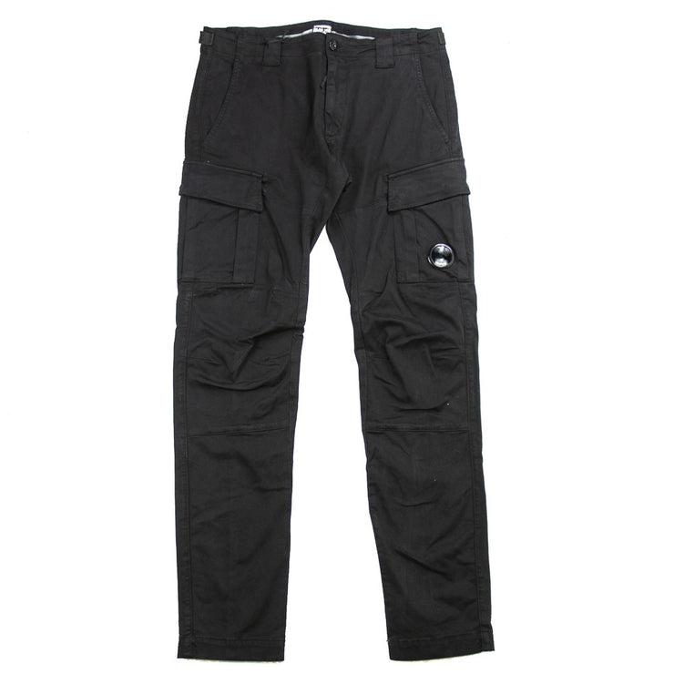 Garment Dyed Sateen Lens Pocket Pants (Black)