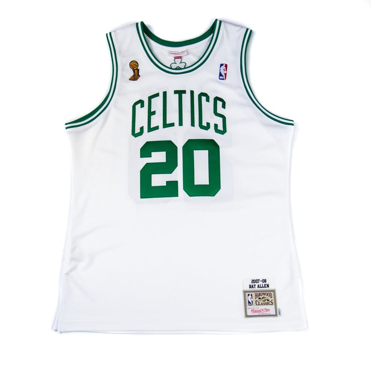 07-08 Ray Allen Finals Authentic Jersey (White)