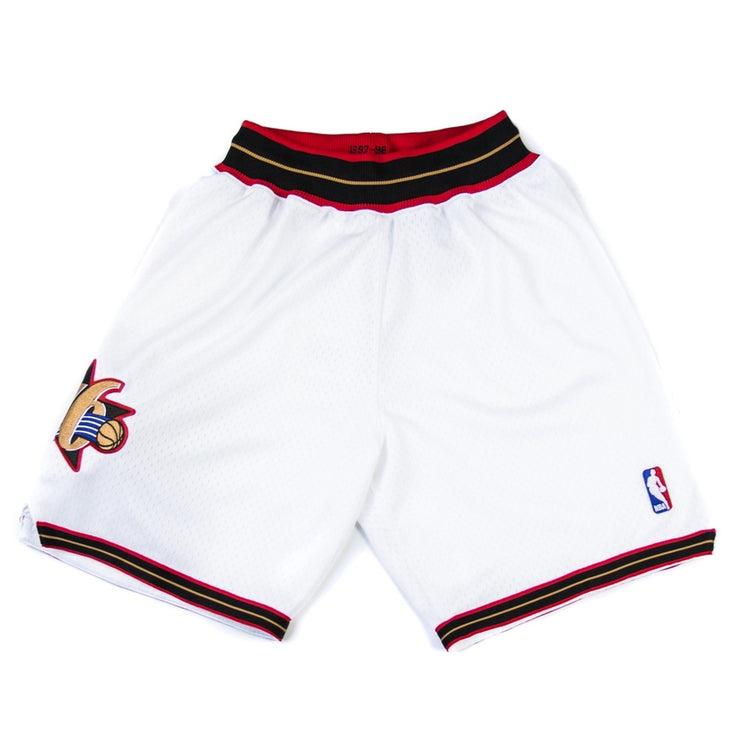 97-98 Philadelphia 76ers Authentic Short (White)