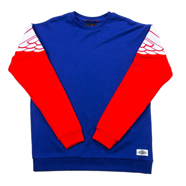 Wings Classics Crew (Deep Royal Blue/University Red)