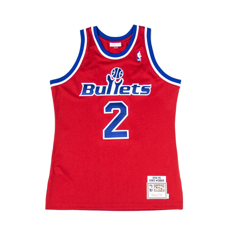 Authentic Chris Webber Bullets Jersey (94-95)