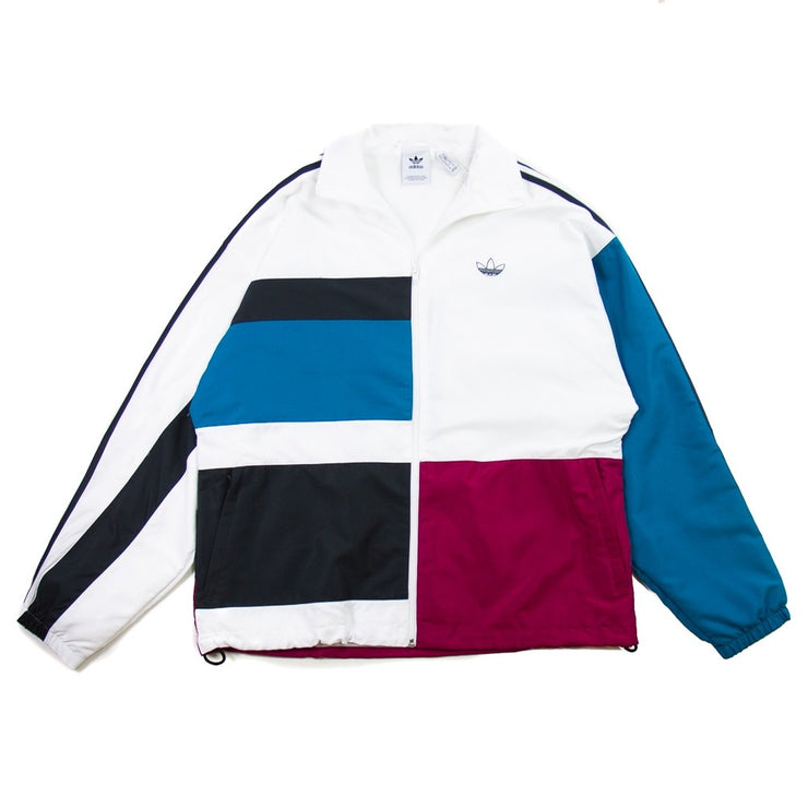 Asymm Track Jacket (White/Active Tea/Berry)