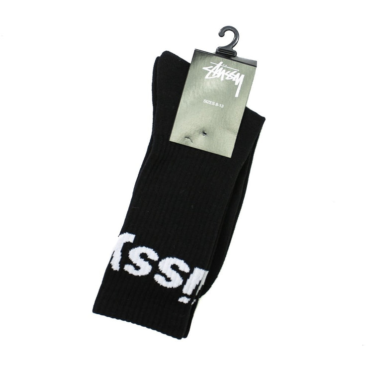 Jacquard Logo Socks (Black)