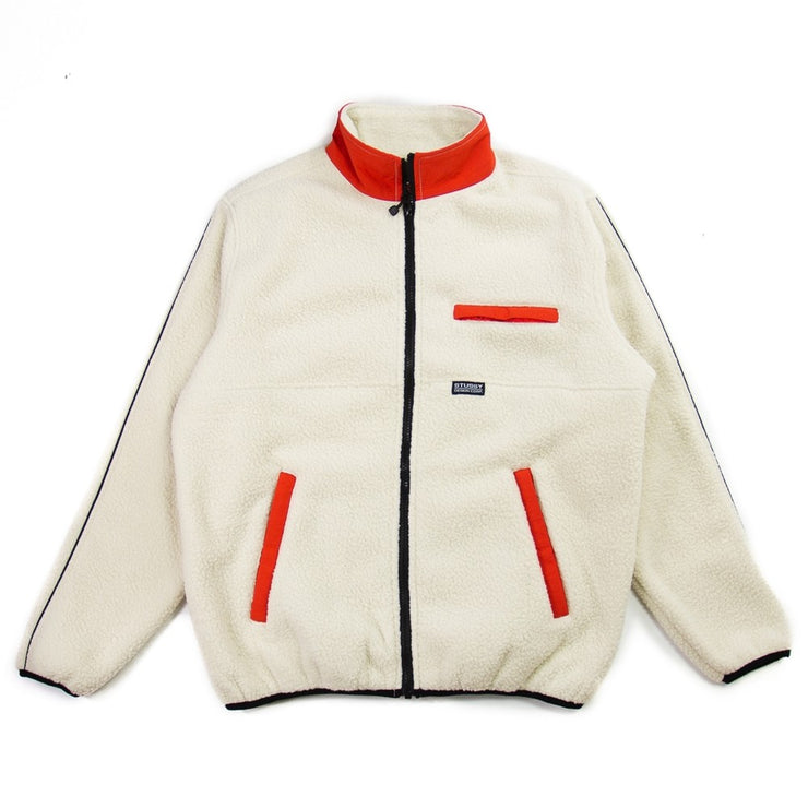Nylon Mock Neck Jacket (Cream)
